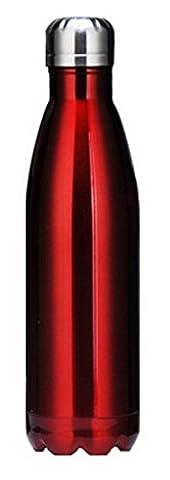 ACMEDE - Thermos Bouteille Isotherme Double Paroi De Thé Café Pour Sport Voyage En Acier Inoxydable Sans BPA Vacuum Insulated Flask 360ml - Rouge