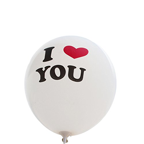 10PCS zarte 30,5 cm I Love You Luftballons weiß (Luftballons Verkauf Rote Zum)