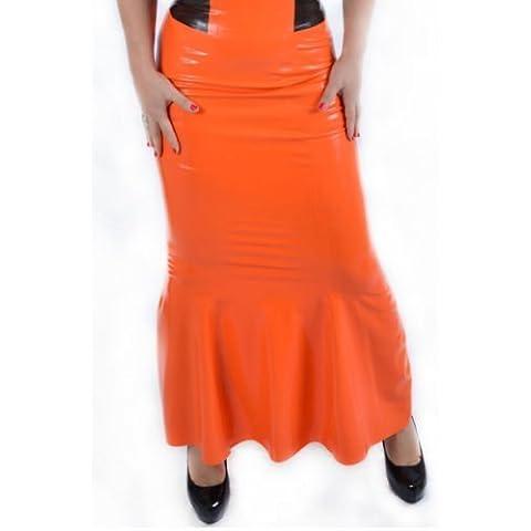 Latexandlovers Latex Rubber Long Skirt Pamela Unisex Sissy Tv Latexandlovers Size: XXS-If You Are 22-23