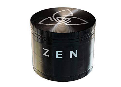 Zen Pollen Grinder - Crusher Set für Tabak, Kräuter, Gewürze, Spice mit Pollenfach und Schaber