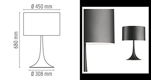 Flos – Lampe à poser FLOS Spun Light T2 Eco – Noir
