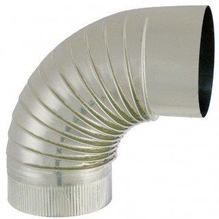 ISOTIP JONCOUX - CONDUCTO DE HUMO ACERO INOXIDABLE - CODO A 90° DIAMETRO 250MM - : 032525