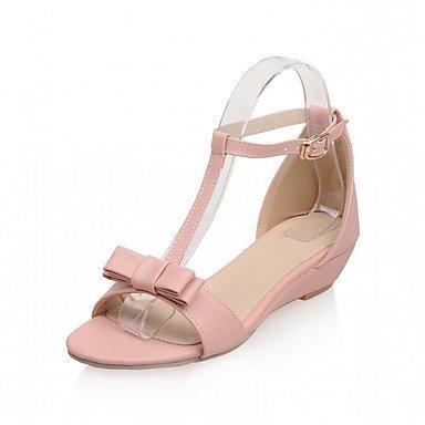 LvYuan Da donna Sandali Finta pelle PU (Poliuretano) Estate Autunno Footing Fiocco Fibbia Zeppa Beige Grigio Rosa 2,5 - 4,5 cm blushing pink