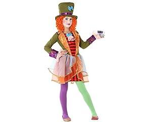 Atosa-61296 Atosa-61296-Disfraz Sombrerera Loca-Infantil Niña, Multicolor, 5 a 6 años (61296