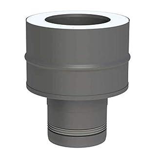 Ø 80 mm Pelletofenrohr Schornsteinanschlussstück DW-FU Grau