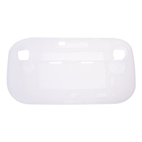 SODIAL(R) Funda Carcasa Silicona Protector Blanco para Nintendo Wii U Gamepad