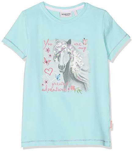 SALT AND PEPPER Mädchen Sweetie Uni Photoprint T-Shirt, Blau (Pool Blue 434), 116 (Herstellergröße: 116/122)