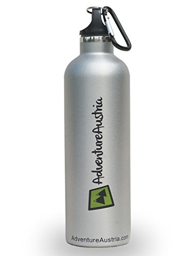 Botella de Agua Deportiva de 600ml AdventureAustria en Acero Inoxidabl