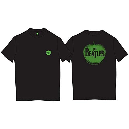 The Beatles-Apple Men's Short Sleeve Shirt Gr. Large, Schwarz - Schwarz - Beatles Short Sleeve T-shirt