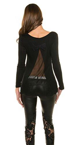 In-Stylefashion - Sweat-shirt - Femme noir noir L Noir
