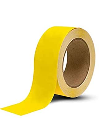 MMWILLCARE PVC Electrical Insulation YELLOW Tape 50 MM Wide x 60 Meter(Floor Marking Tape)