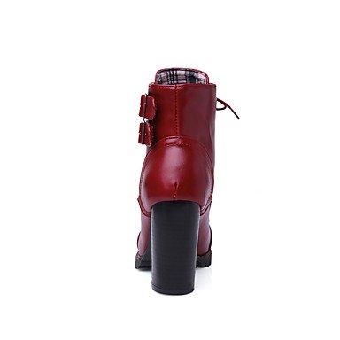 pwne Chaussures Femme Bottes Talons/plate-forme/bottes Printemps/Automne/Hiver Mode/Bootie/pointe ronde Office carrière/habillement/Casual US6.5-7 / EU37 / UK4.5-5 / CN37