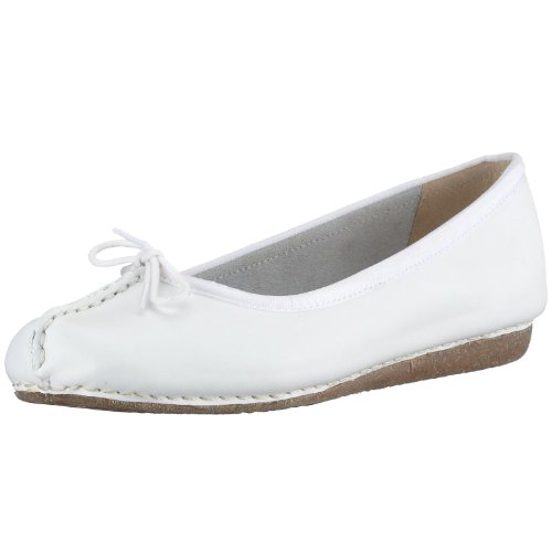 Clarks Freckle Face 20300955, Ballerine donna Bianco (White)