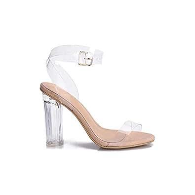 Jazzie Collection Women's Transparent Heel Tan