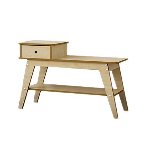 Tiroir chaussure banc chaise en bois monocouche canapé repos salon balcon balcon 80 cm * 30 cm * 40 cm