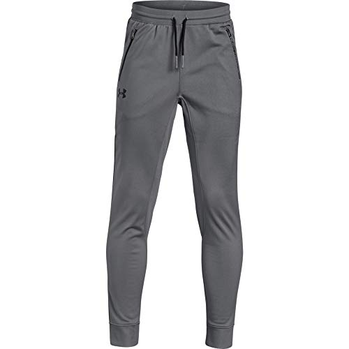 Under Armour Jungen UA Pennant Tapered Pants Hose, Grau, YLG
