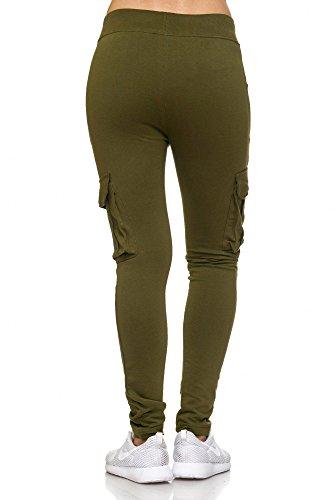 BELLIS® Cargo Damen Hose Jogginghose Sporthose Freizeithose /XS-XXL/ G-699009 Kale