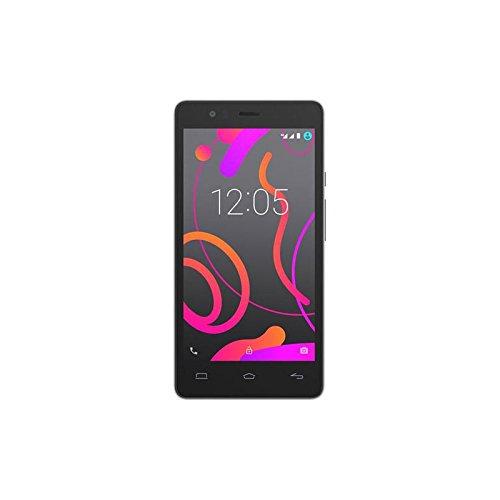 """Bq C000155 - Smartphone de 5"""" (WiFi, Qualcomm Snapdragon 412 MSM8916T Quad Core hasta 1.4GHz, 2 GB de RAM, 16 GB de Memoria Interna, cámara de 8 MP, Android) Blanco y Negro"""
