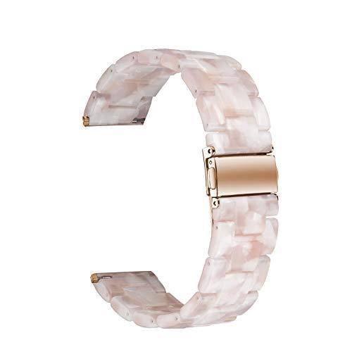 WAOTIER für Apple Watch 38mm Armband Acetate Ersatzarmband Retro Armband für Apple Watch Series 3 Series 4 mit Edelstahl Verschluss Kompatibel iWatch 38mm für Frauen Männer (Muster D)