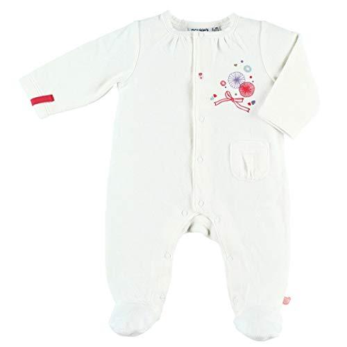 Noukie's Noukies Pyjama grenouillère en Velours Bébé Fille Blanc 1M