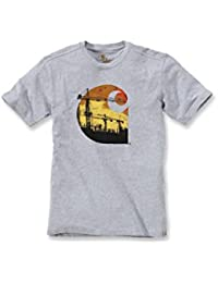 Carhartt Mens Maddock Branded C Polycotton Short Sleeve Graphic TShirt