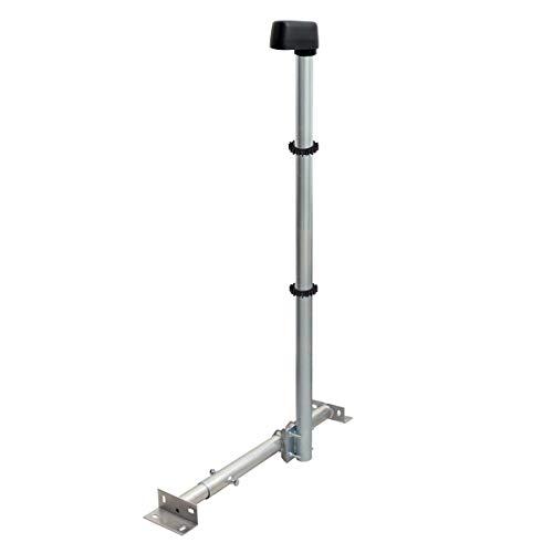 PremiumX Basic X120-48 SAT TV Dachsparrenhalter 120cm Stahl Mast Dach-Sparren-Halterung für Satellitenschüssel Satelliten-Antenne LTE | Kabeldurchführung Mastkappe 2X Mastclip - Dach-antenne-tv