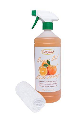 Preisvergleich Produktbild Orangenöl mit Mikrofasertuch zum Auftragen - 1 Liter.