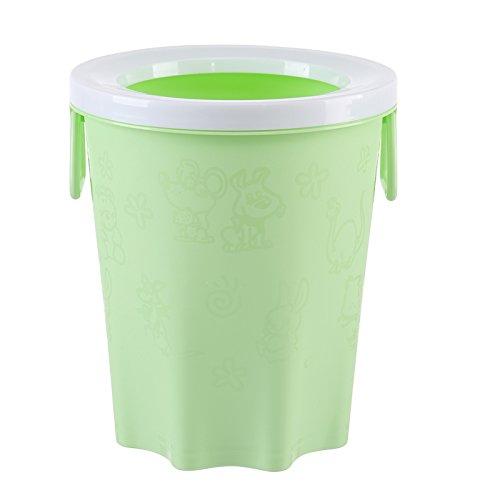 Das Büro mit Hochdruckreiniger Warenkorb Kunststoff keine Abdeckung Runde Küche Gesundheit Fässer, Grün