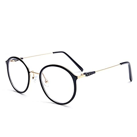 Superlight TR90 frame glasses retro plain wood round stainless steel mirrors , 2