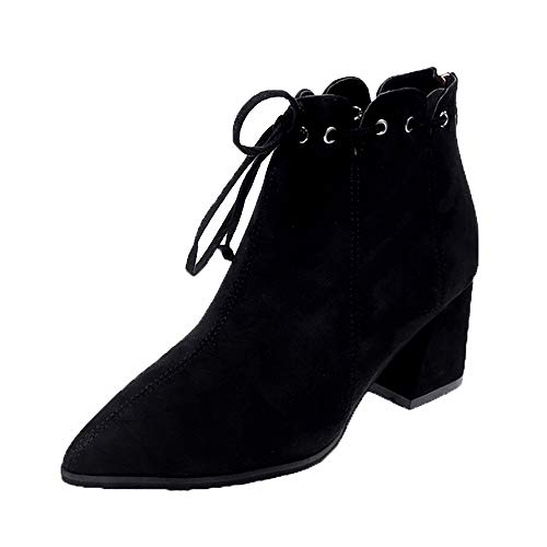 chaussures femme Bottes Bottines Bottines en Daim à la Mode Femmes Bottes  Simples en Daim Décontractées 8e1d420bfd3d
