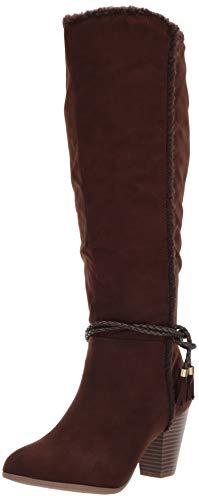 Sugar Women's Knee-High Fashion Boot, Damen, Twizle, kniehoch, modische Stiefel, Brown Sherpa, 38.5 EU - Brown Knee High Boots