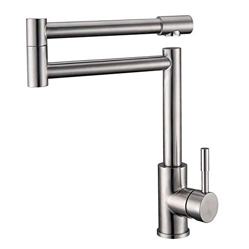 snowballing 304 Stainless Steel Kitchen Sink Brushed Tap 360 Degree Rotating Ehinad Single-Lever Mixer Tap Sink for Dishwasher Extension High Swivel Spout -