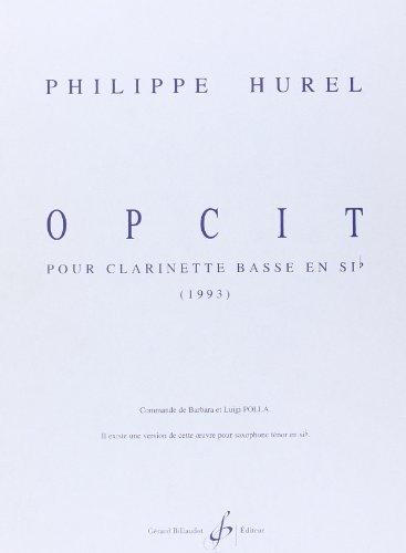 Opcit - Clarinette en Sib