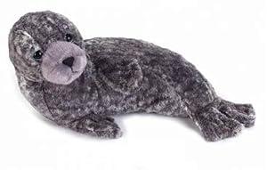 Lelly - Muñeco de Foca Monaca (Monk Seal) Original National Geographic con Etiqueta ilustrativa de los Detalles sobre el Animal, 30 cm