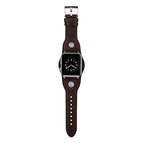 Relojes De Pulsera,Elegante Reloj Retro Minimalista Punk, Marrón Oscuro