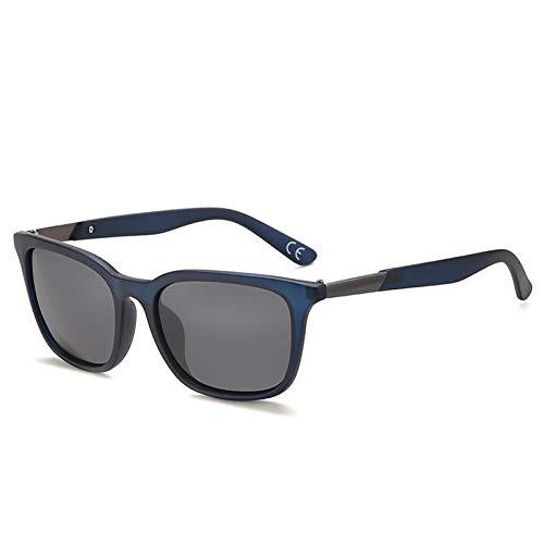 YLZERO Retro polarisierte Sonnenbrille Herren quadratische Metallrahmen Sonnenbrille Herren Driving Brille