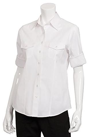 Uniforme Fonctionne femmes Femme Mesdames Pilot pour homme tenue de travail Haut Jersey Décontracté, Plastique, Blanc, XL - Spandex Uniform