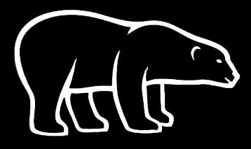 LLI Eisbär, Vinyl-Aufkleber, Auto, LKW, Vans, Wände, Laptop, Weiß, 19,1 x 10,2 cm, LLI1331 (Weiße Van Kostüm)
