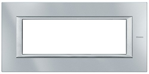 BTicino HB4806DB Axolute Placca Ovale, 6 Moduli, Bianco