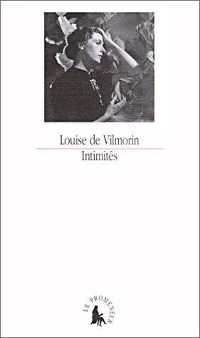 Intimités par Louise de Vilmorin