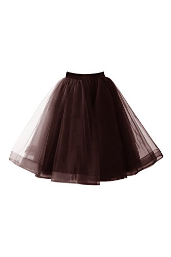 Babyonlinedress® Tüllrock Damen Vintage Tutu Tanzrock Unterrock Petticoat Rock (Region 10 Kostüm)