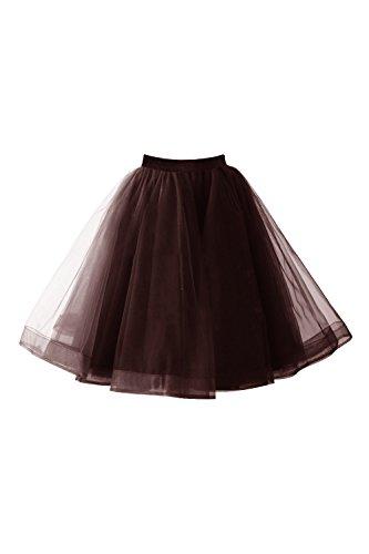�llrock Damen Vintage Tutu Tanzrock Unterrock Petticoat Rock (Region 10 Kostüm)
