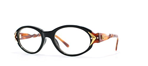 87fcf20c1cb Emmanuelle Khanh NC3 Black and Brown Authentic Women Vintage Eyeglasses  Frame