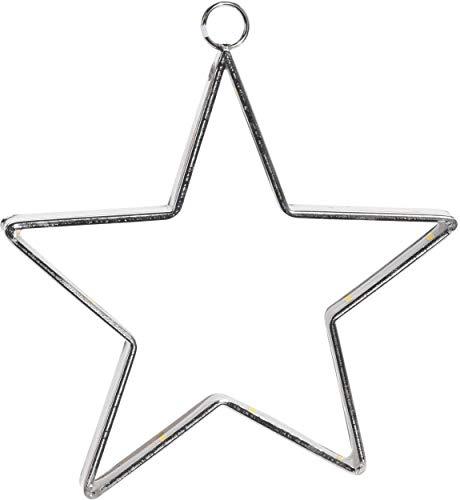 made2trade LED Stern zum Aufhängen - 30 LED - 28cm - Silber