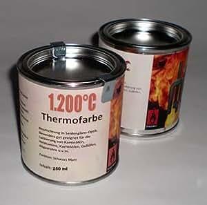 four vernis 1200 c couleur four couleur isothermique vernis noir mat 2 x 250 ml id es de ad. Black Bedroom Furniture Sets. Home Design Ideas
