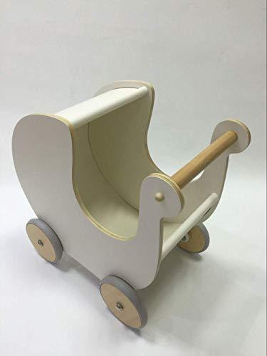 Arbre Niñito Andador Multiusos del Carro de la Compra del bebé de la Carretilla de los niños de Madera Carro (Color : White)