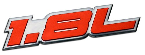 Vw Gli-emblem (1.8L Liter Embossed RED on Highly Polished Silver Real Aluminum Auto Emblem Badge Nameplate for Kia Spectra LS Sephia Elantra Forte LX Scion xD Hatchback 4 5 door Hyundai Elantra GLS Volkswagen VW Golf GTI New Classic Beetle GLX Jetta GLI Passat GL Cabrio 1.8T Sedan coupe 2 3 4 5 2dr 3dr 4dr 5dr door hatchback turbo turbocharged)