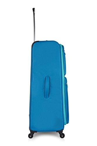 3181bDKiE%2BL - Maleta Revelation Weightless D4, juego de 3, 4 ruedas giratorias, 77 cm - 88 L, azul
