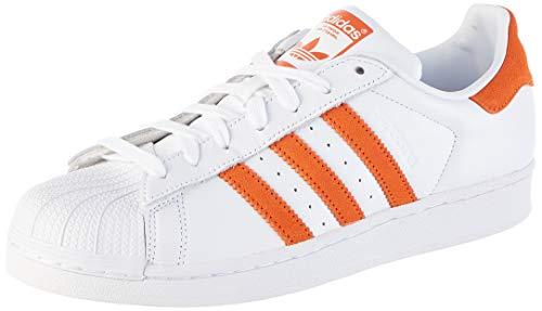 adidas Herren Superstar Sneaker, Weiß (Footwear White/Orange/Footwear White 0), 42 EU