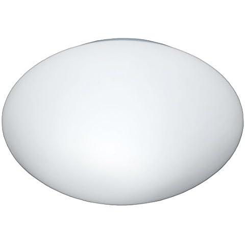 Lámpara de techo WOFI, 1-techo Serie Meran color 1 x E27/10 W 220-240 V., 24, 5 x 9 x 24, 5 x Diámetro 24, 5 cm, 3000 K, 806 lm, eficiencia energética de clase a +, blanco 9245,01,06,2644